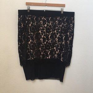 {Torrid} Lace Overlay Skirt
